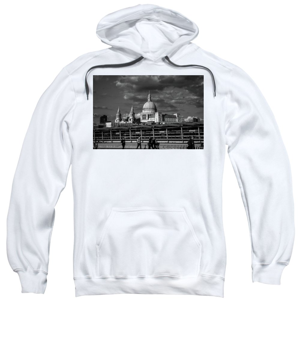 London Sweatshirt featuring the photograph The Commute by Milton Cogheil