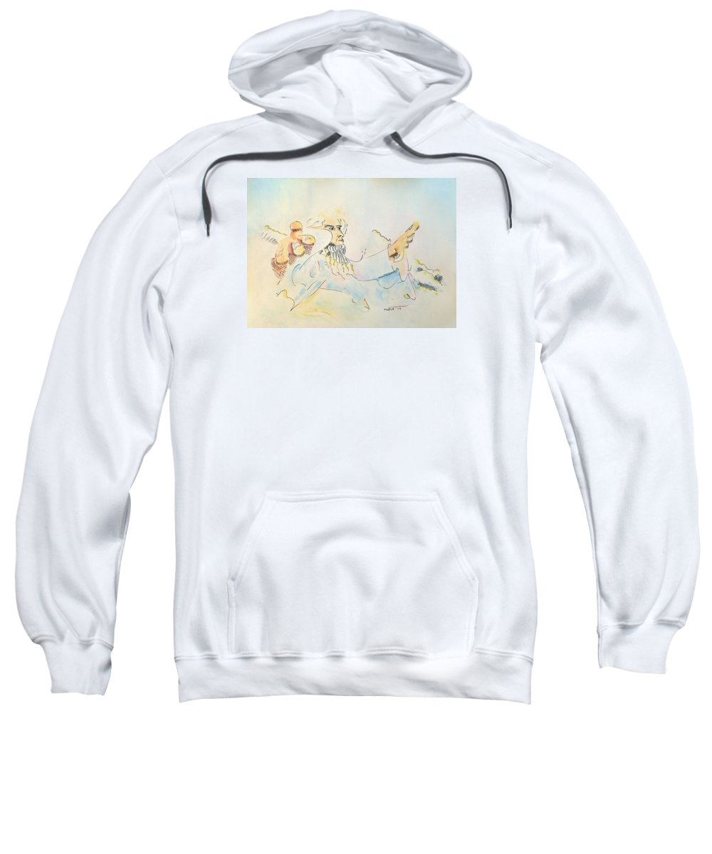 Music Sweatshirt featuring the painting The Conductor by Dave Martsolf