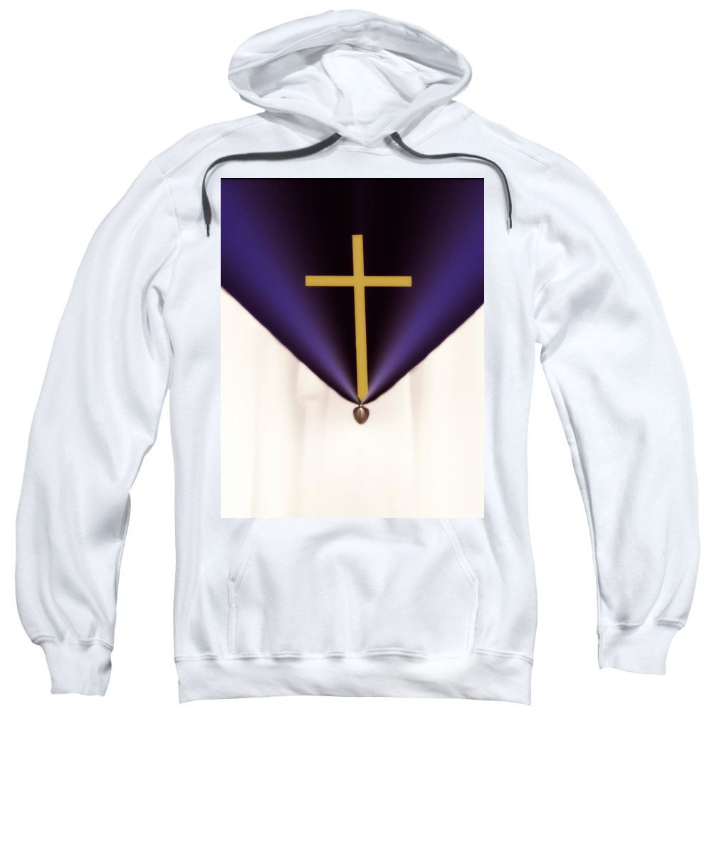 Fractal Sweatshirt featuring the digital art The Cross by Jenn Teel
