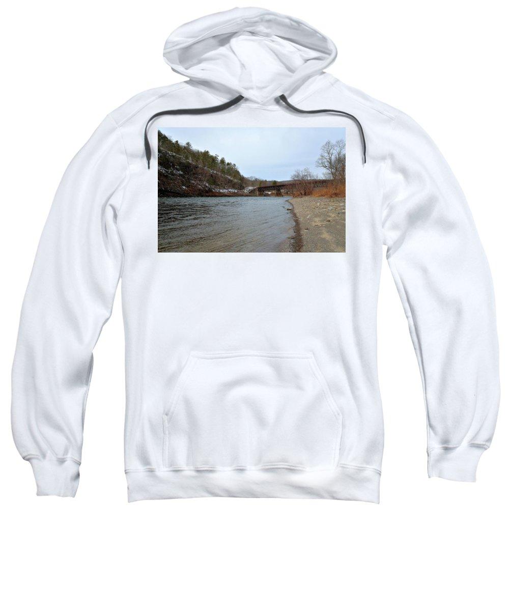 River Sweatshirt featuring the photograph The Delaware River by Kurt Von Dietsch