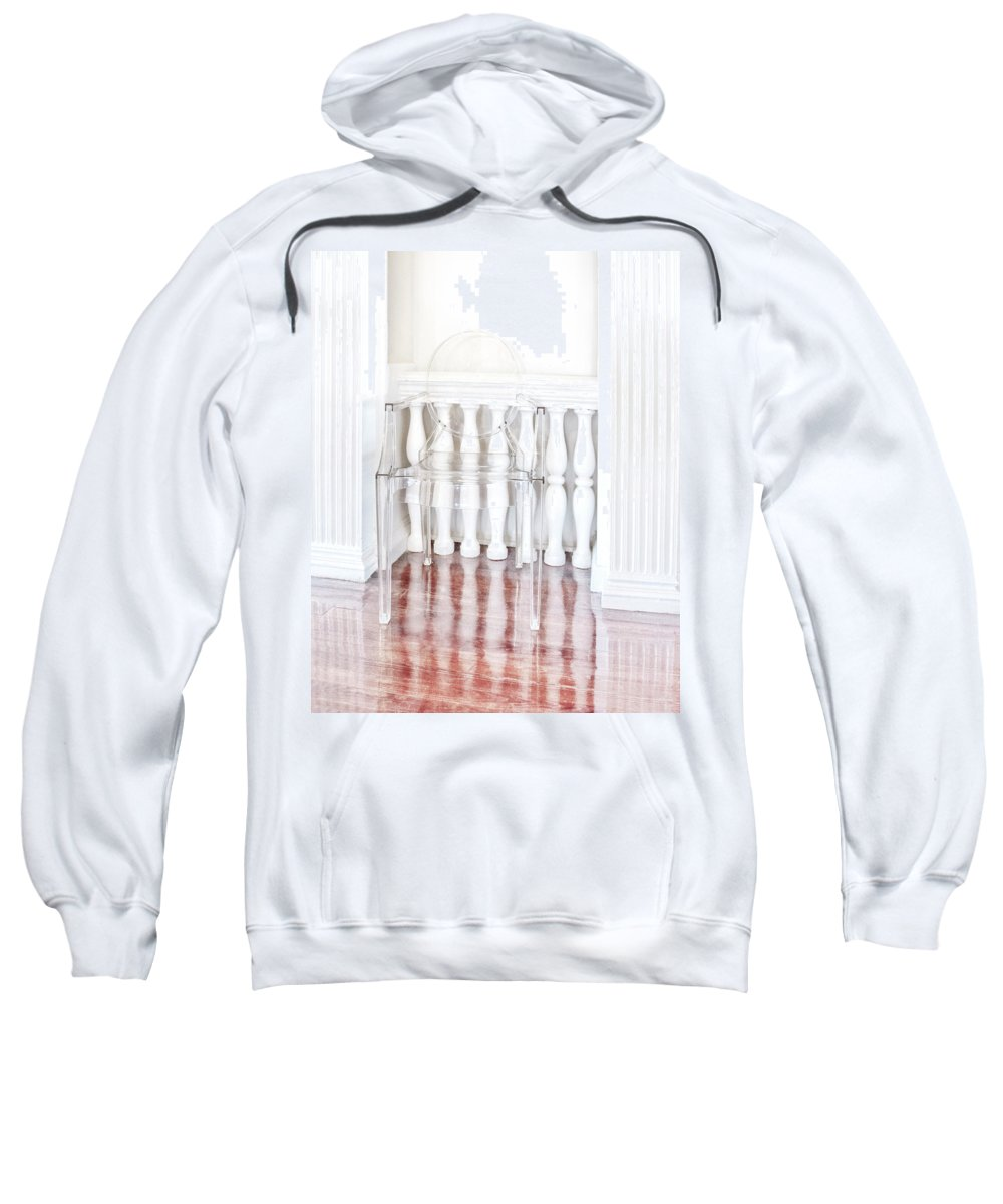Chair Sweatshirt featuring the photograph The Disappearing Chair by Mitch Spence