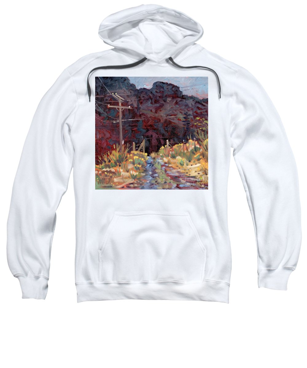 Oil Sweatshirt featuring the painting The Driveway by Donald Maier