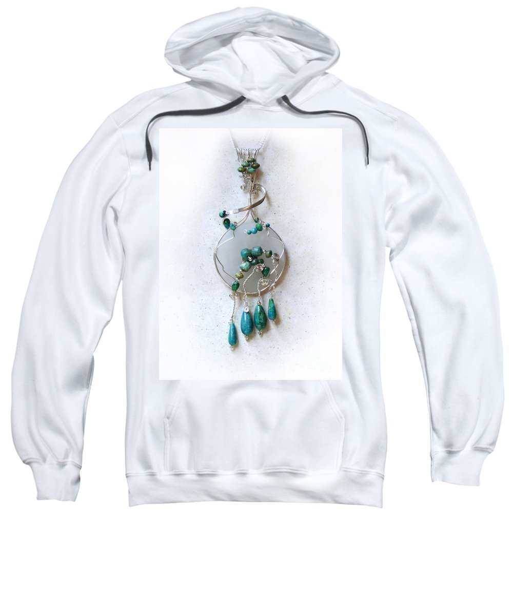 Sterling Silver Sweatshirt featuring the photograph The Earth And Sky And Sea by Rhonda Chase