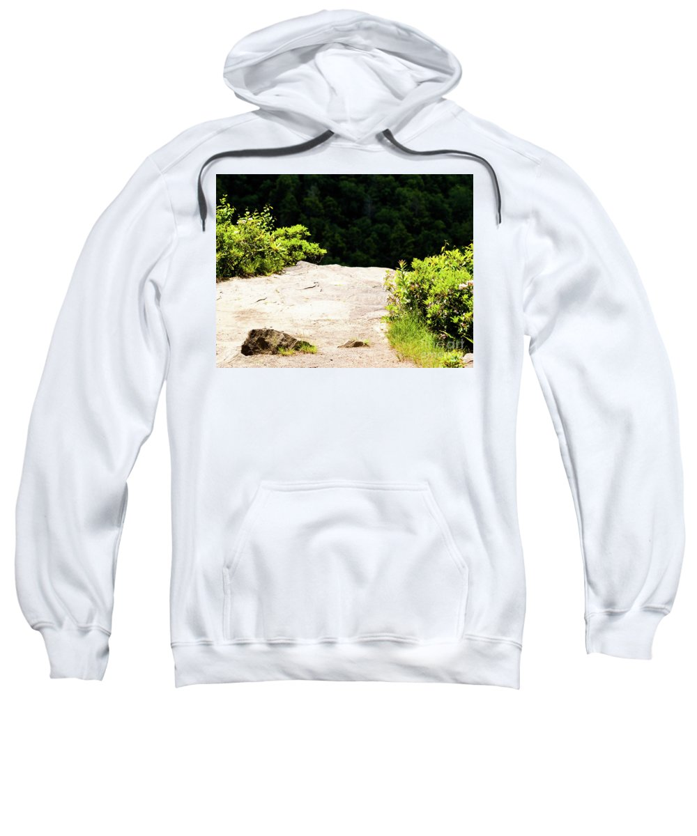 Cliff Sweatshirt featuring the photograph The Edge by Kevin Gladwell