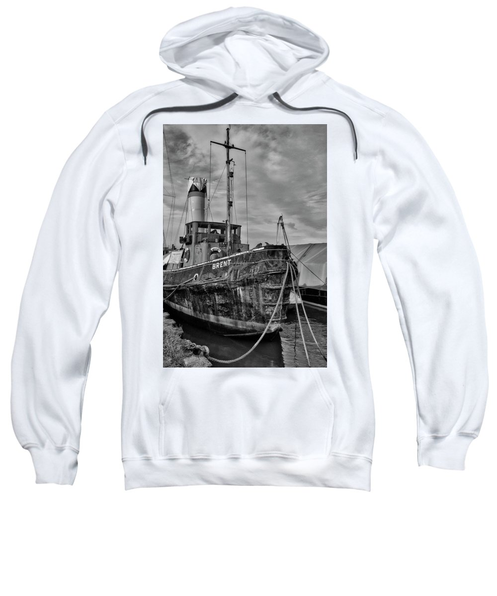 Brent Sweatshirt featuring the photograph The End Of A Working Life? by Stephen Barrie