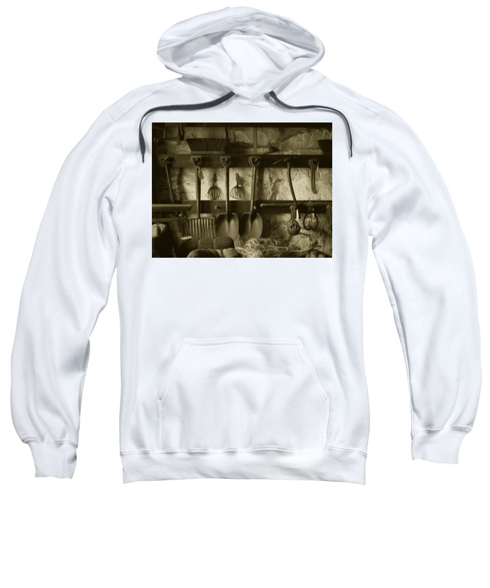 Farming Sweatshirt featuring the photograph The Farmer's Toolshed by RC DeWinter