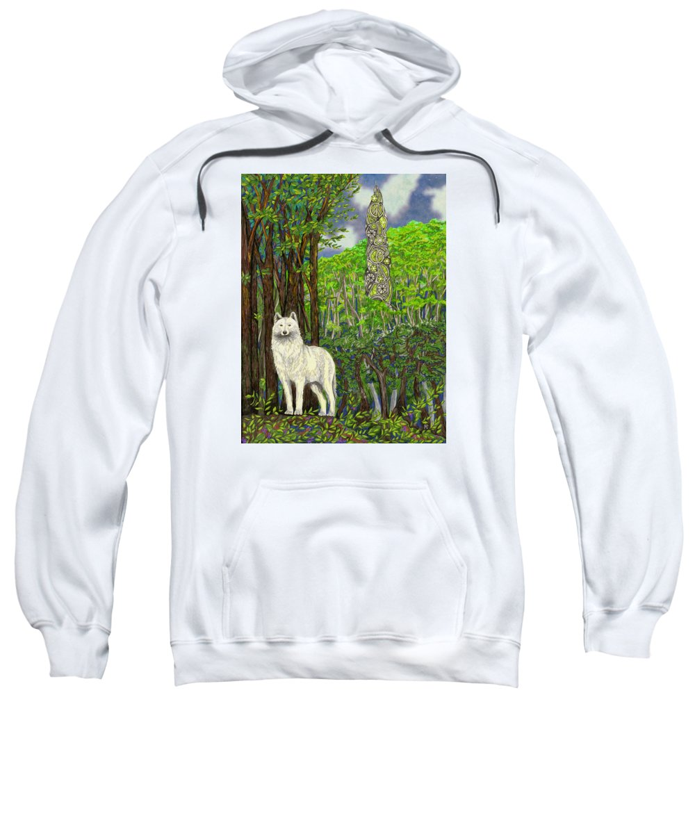 Dreams Sweatshirt featuring the drawing The Glass by FT McKinstry