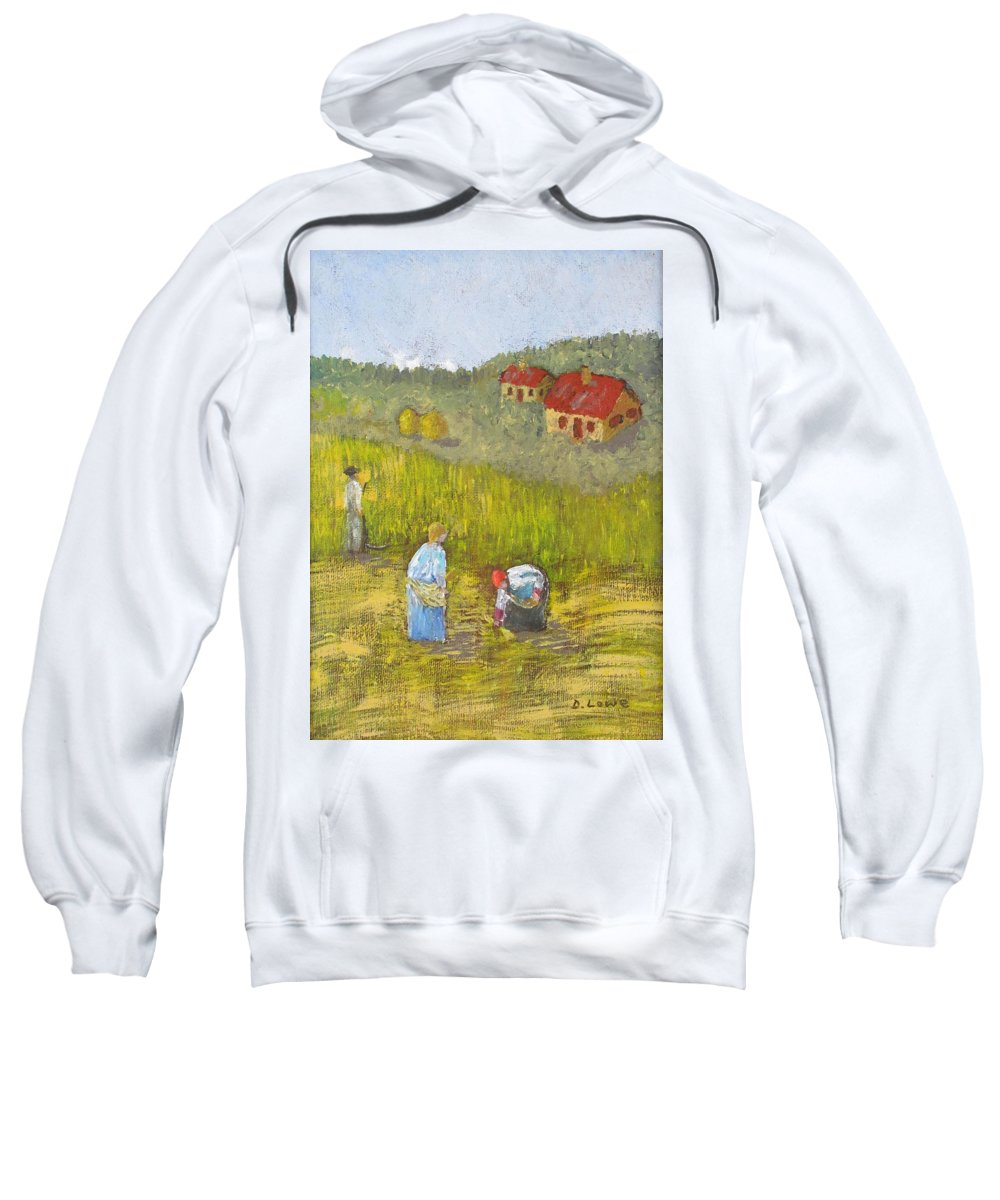 Landscape Sweatshirt featuring the painting The Gleaners by Danny Lowe