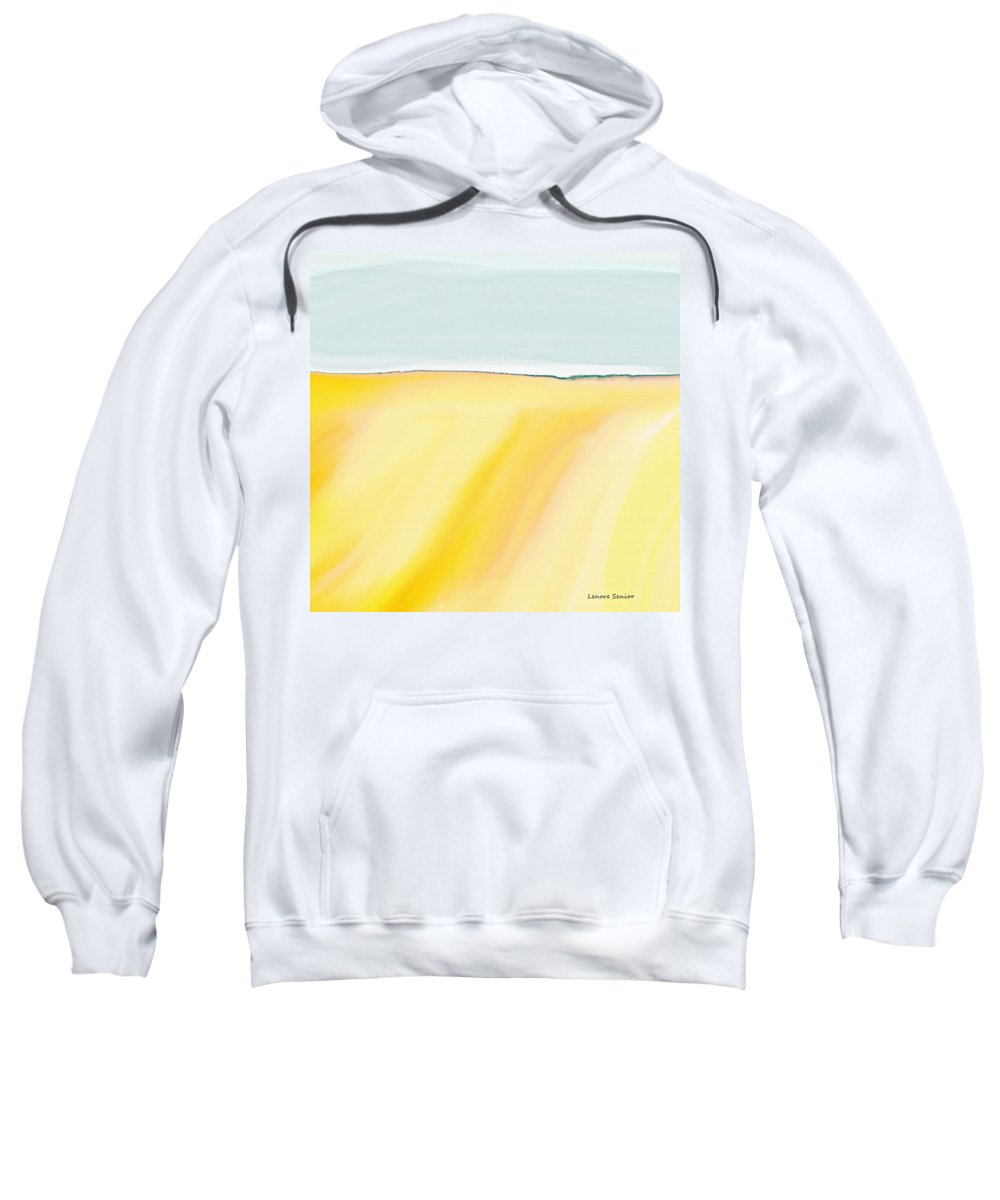 Abstract Sweatshirt featuring the painting The Golden Fields by Lenore Senior