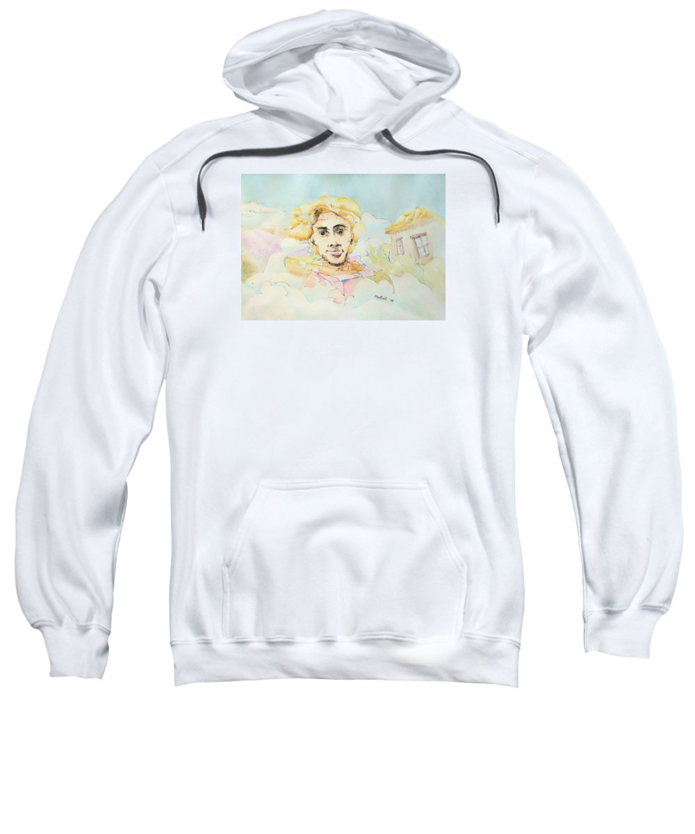 Air Sweatshirt featuring the painting The Good Man by Dave Martsolf