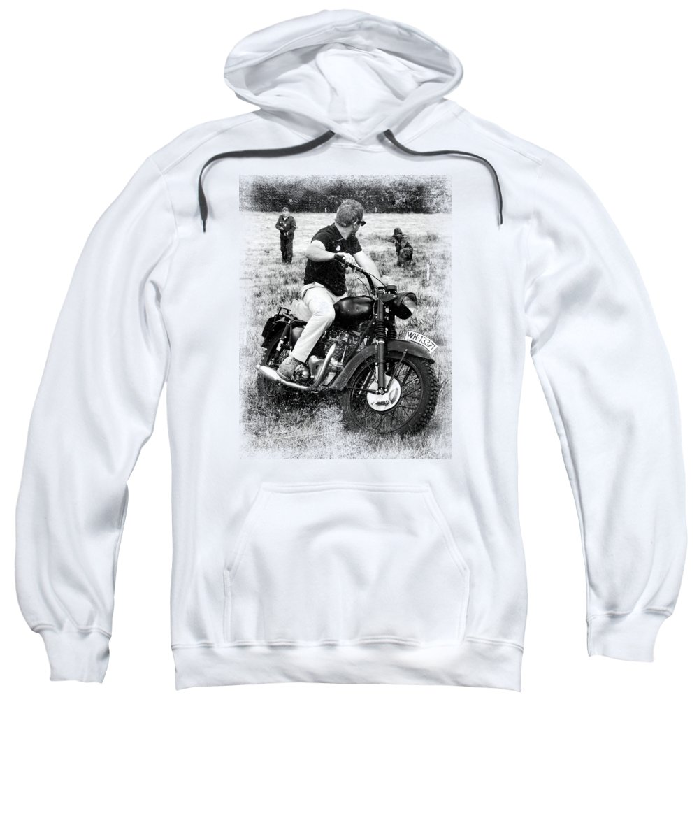 Triumph Sweatshirt featuring the photograph The Great Escape by Mark Rogan