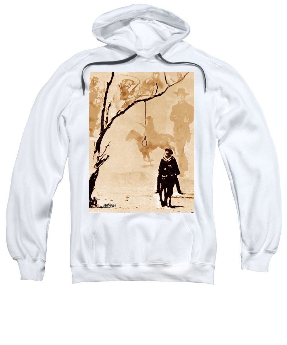Clint Eastwood Sweatshirt featuring the digital art The Hangman's Tree by Seth Weaver