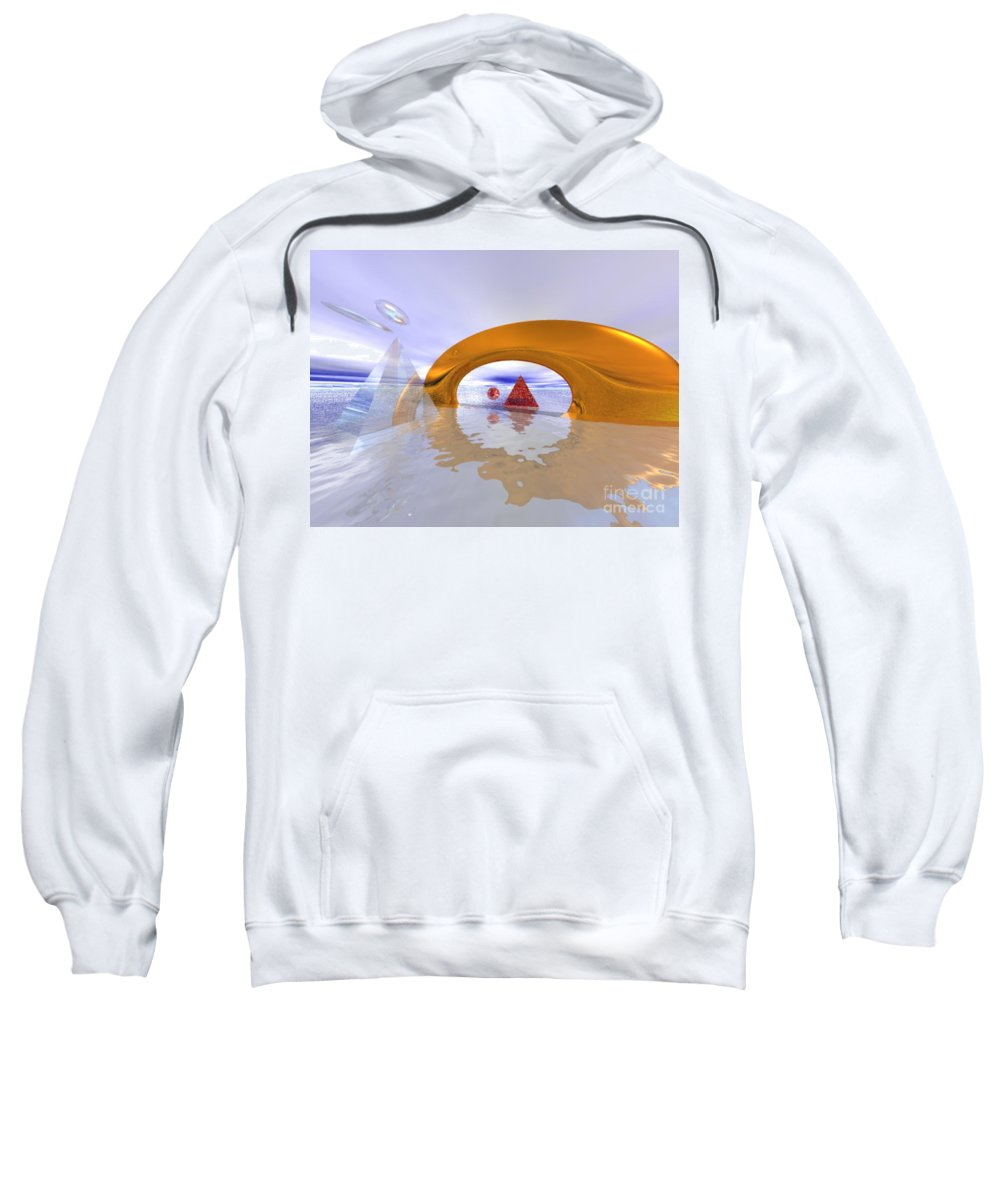 Fantasy Sweatshirt featuring the digital art The Journey Beyond by Oscar Basurto Carbonell