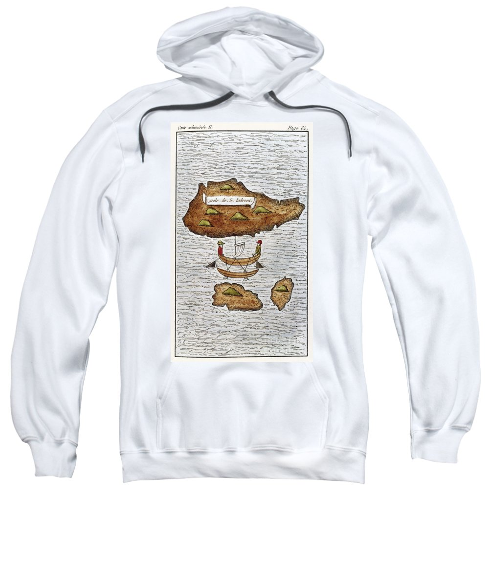1521 Sweatshirt featuring the photograph The Ladrone Islands by Granger