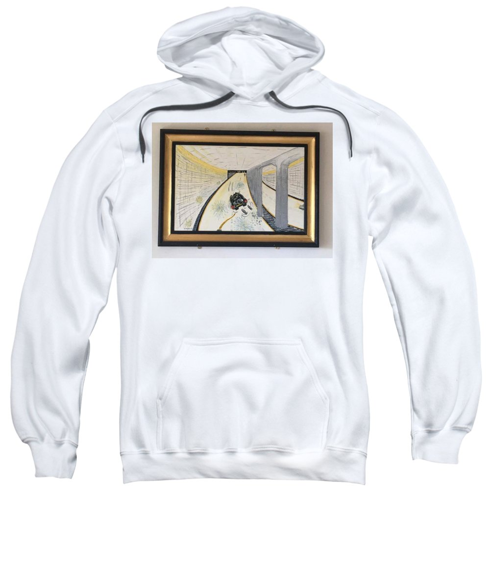 Historical Paintings Sweatshirt featuring the painting The Last Night 0f Princess Diana by MERLIN Vernon