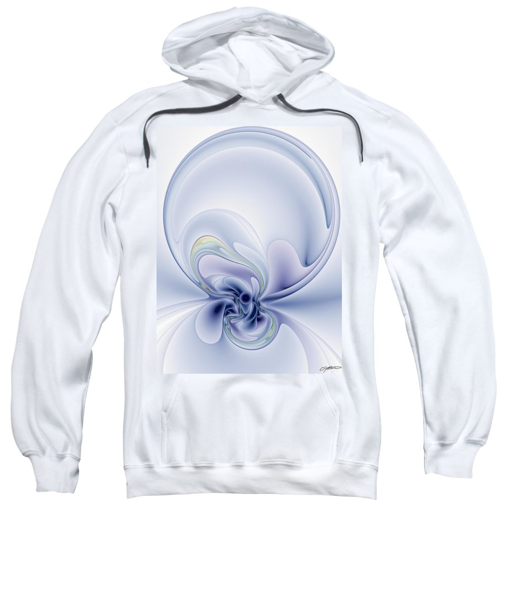 Abstract Sweatshirt featuring the digital art The Liquidity Of Thought by Casey Kotas