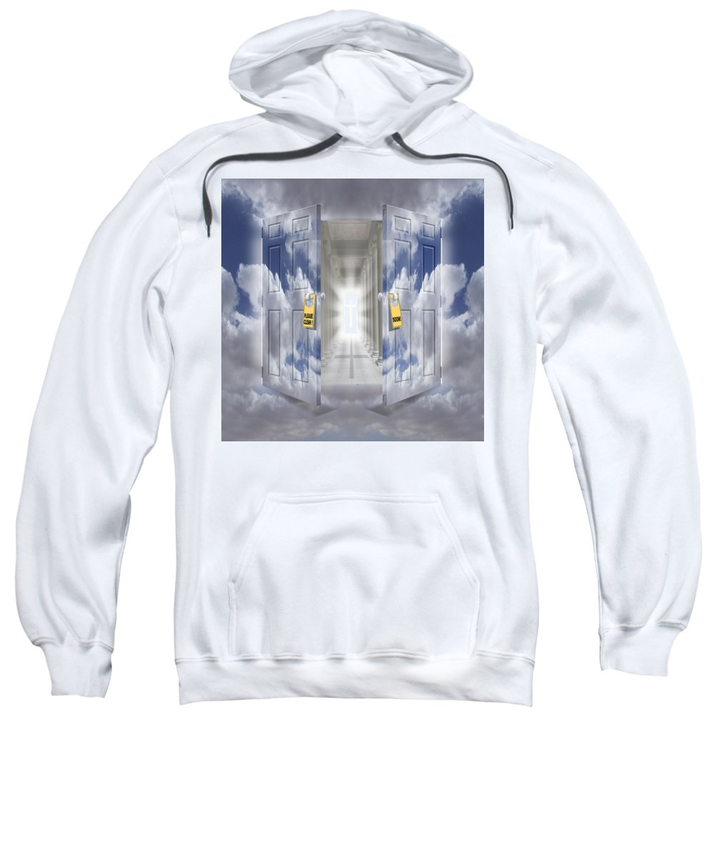 Surrealism Sweatshirt featuring the photograph The Message by Mike McGlothlen
