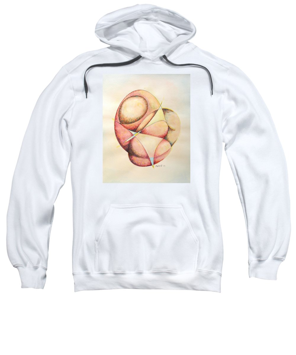 Abstract Sweatshirt featuring the painting The Millenium Stone by Dave Martsolf