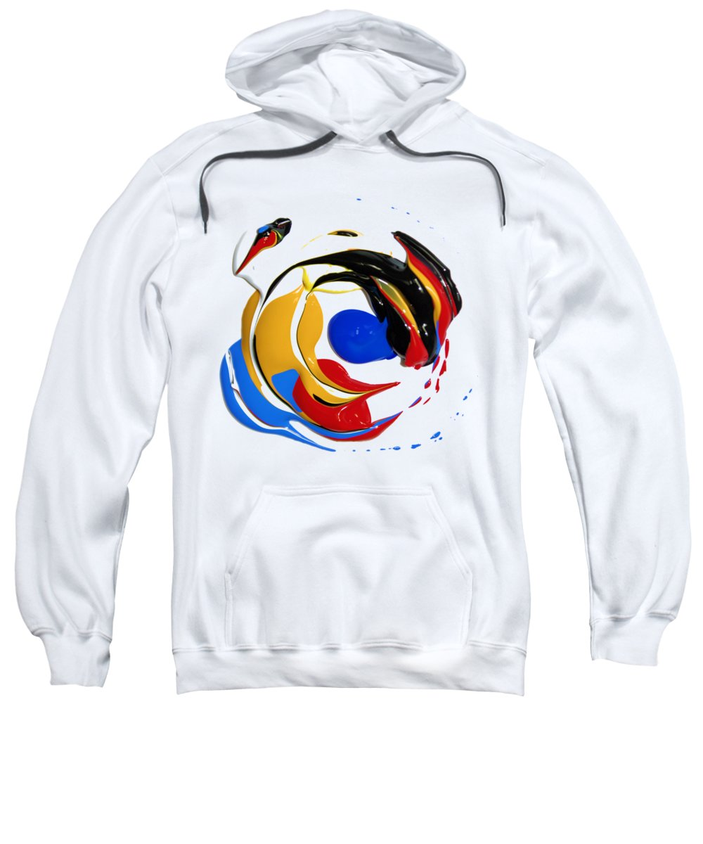Abstract Sweatshirt featuring the photograph The Mix Up by Brian Raggatt