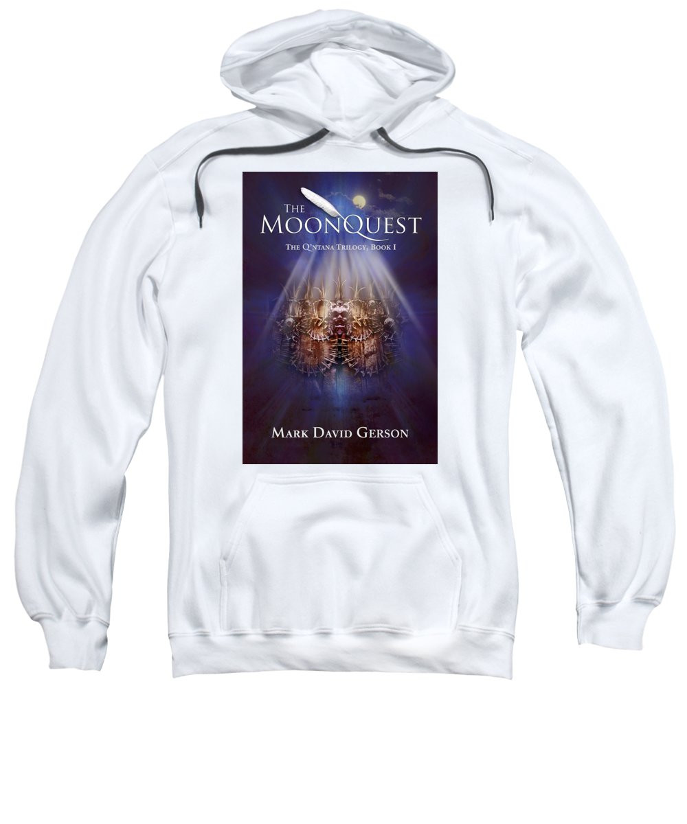 Book Cover Sweatshirt featuring the digital art The Moonquest Book Cover by Mark David Gerson
