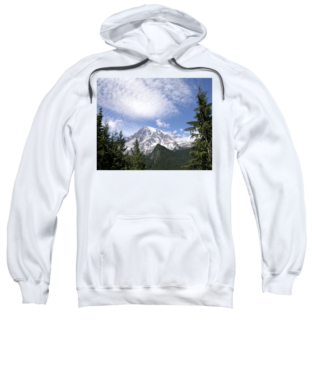 Mountain Sweatshirt featuring the photograph The Mountain Mt Rainier Washington by Michael Bessler