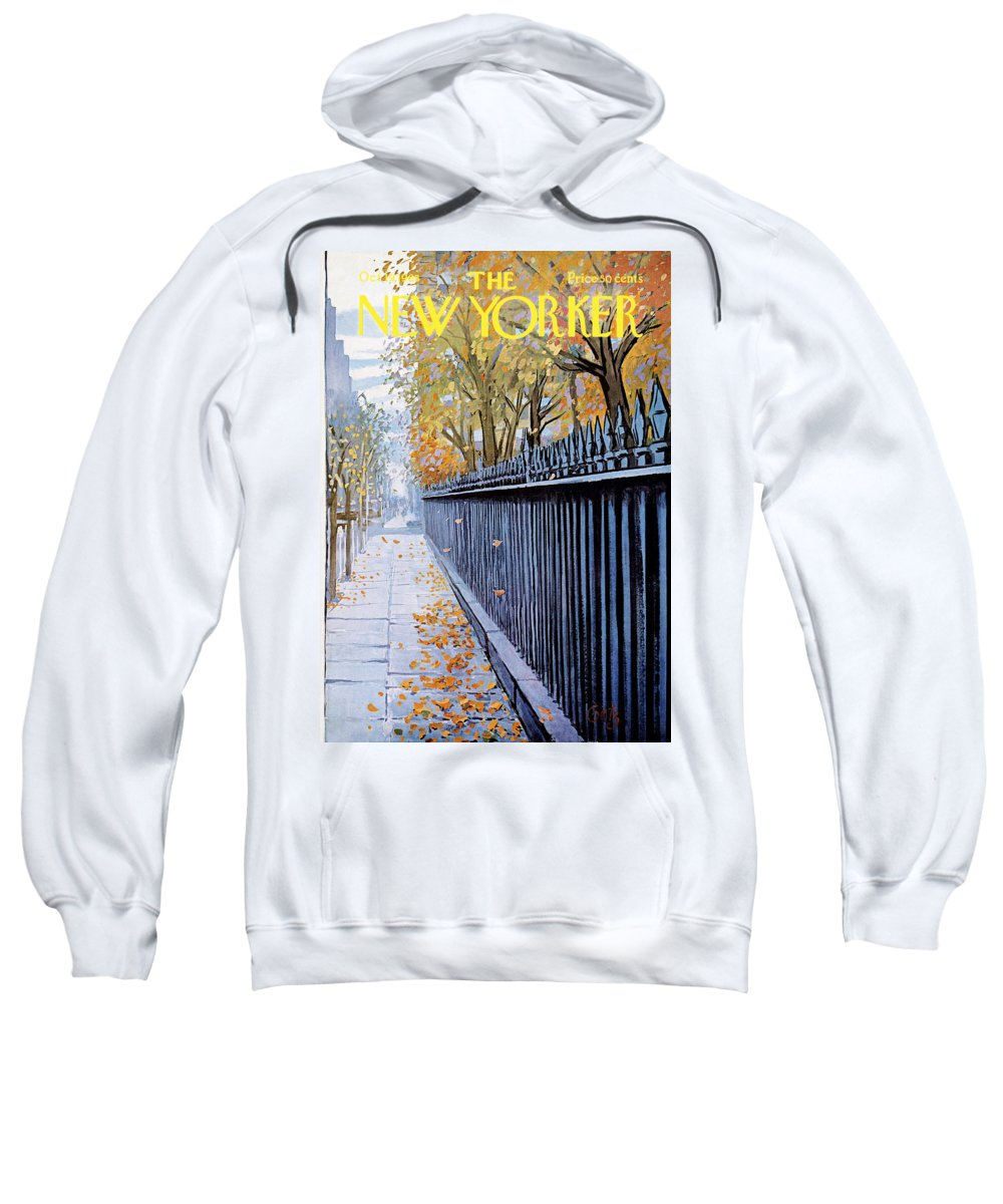 Season Sweatshirt featuring the painting Autumn In New York by Arthur Getz