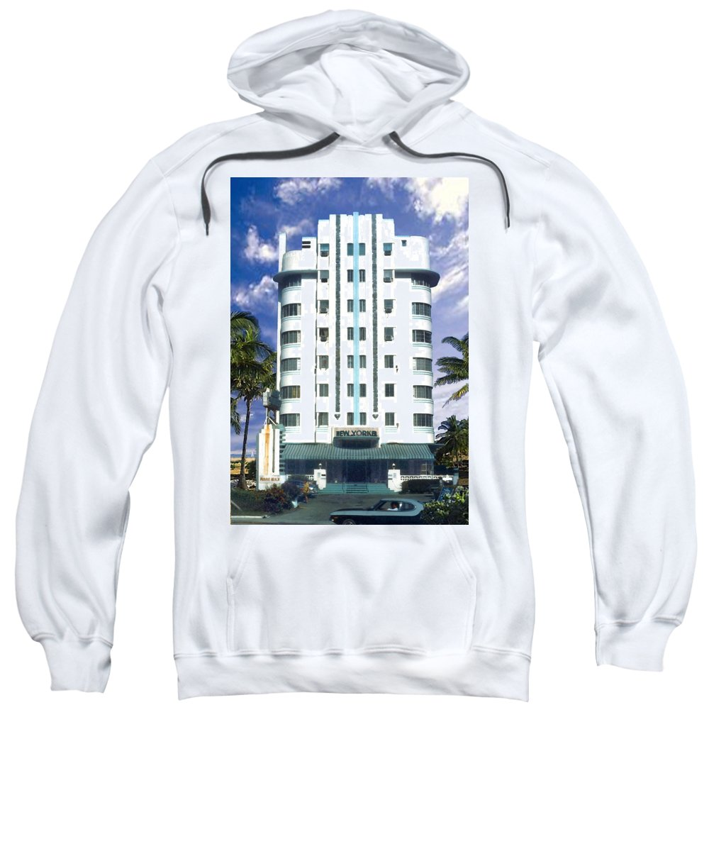 Miami Sweatshirt featuring the photograph The New Yorker by Steve Karol