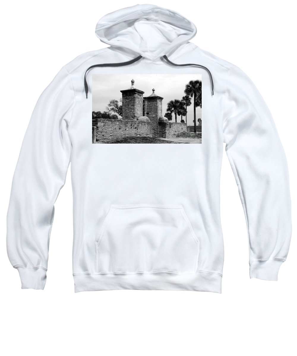 Saint Augustine Florida Sweatshirt featuring the photograph The Old City Gates by David Lee Thompson