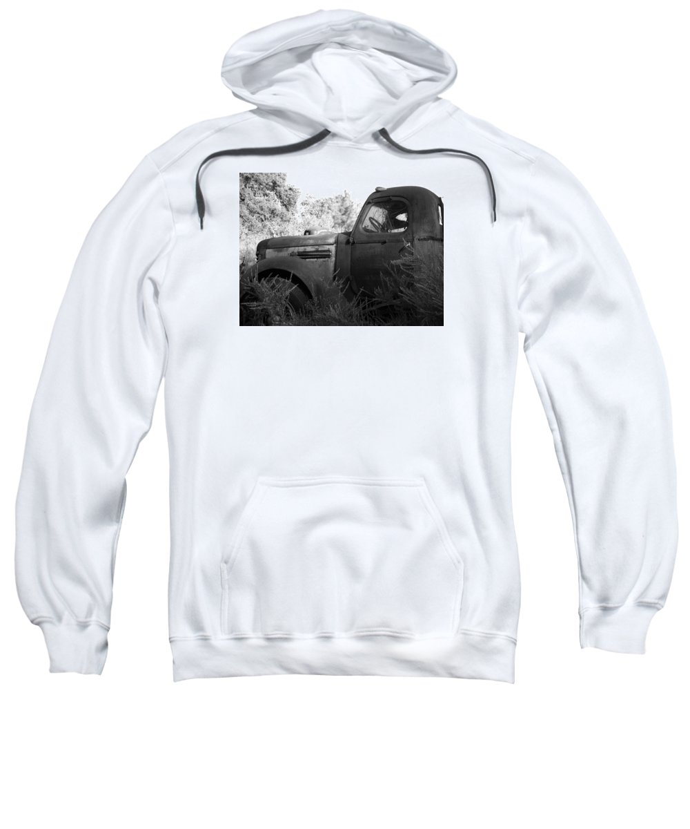 Ann Keisling Sweatshirt featuring the photograph The Old Ride by Ann Keisling