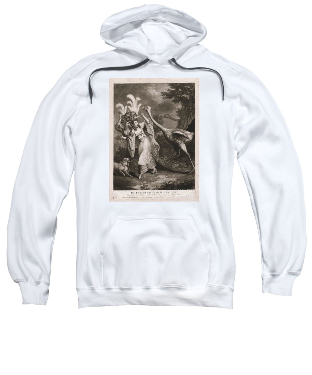 The Osstrichs Attack Sweatshirt featuring the painting The Osstrichs Attack by MotionAge Designs