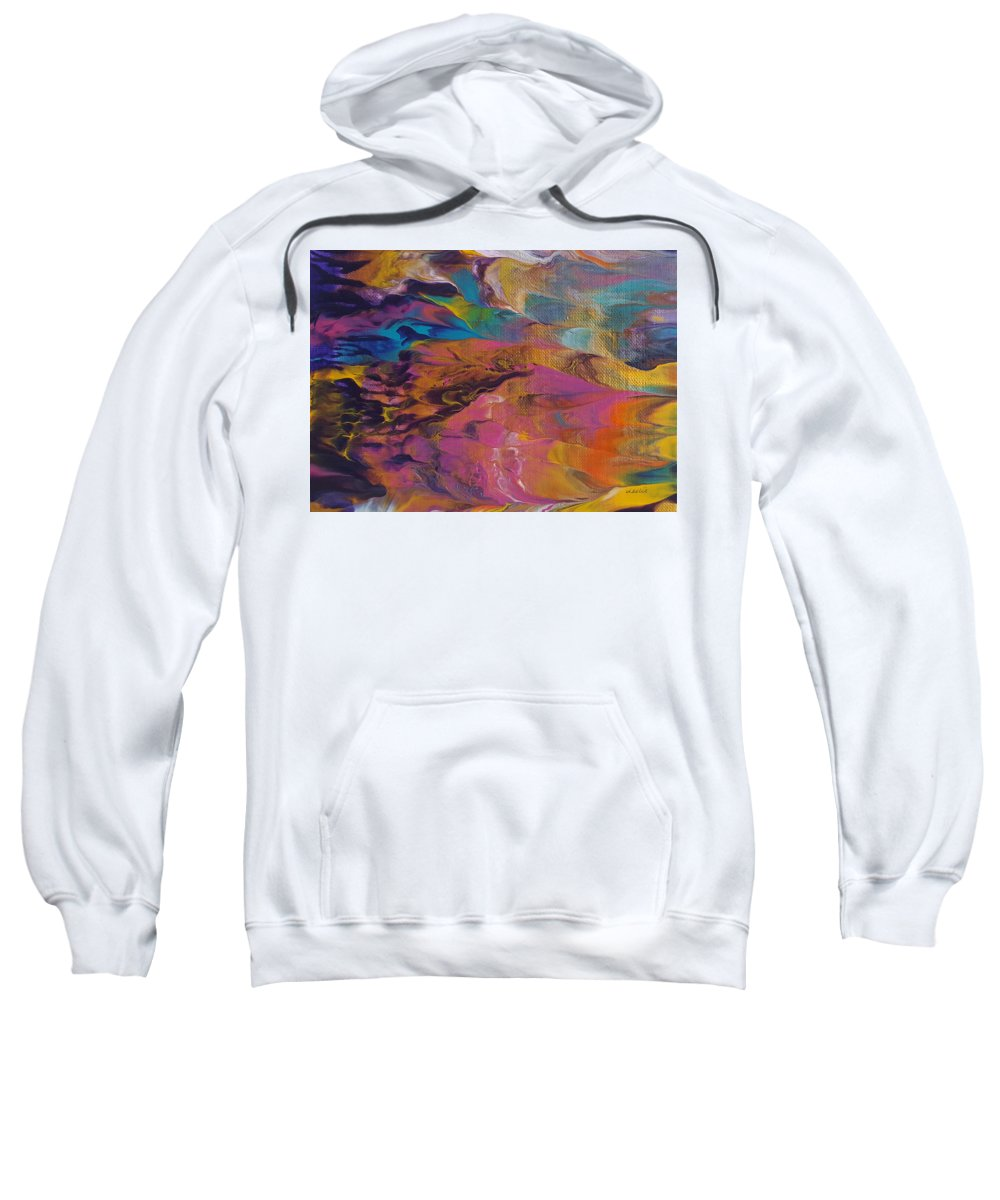 Abstract Painting Sweatshirt featuring the painting The Other Side Of Darkness by Leslie Joy Ferguson