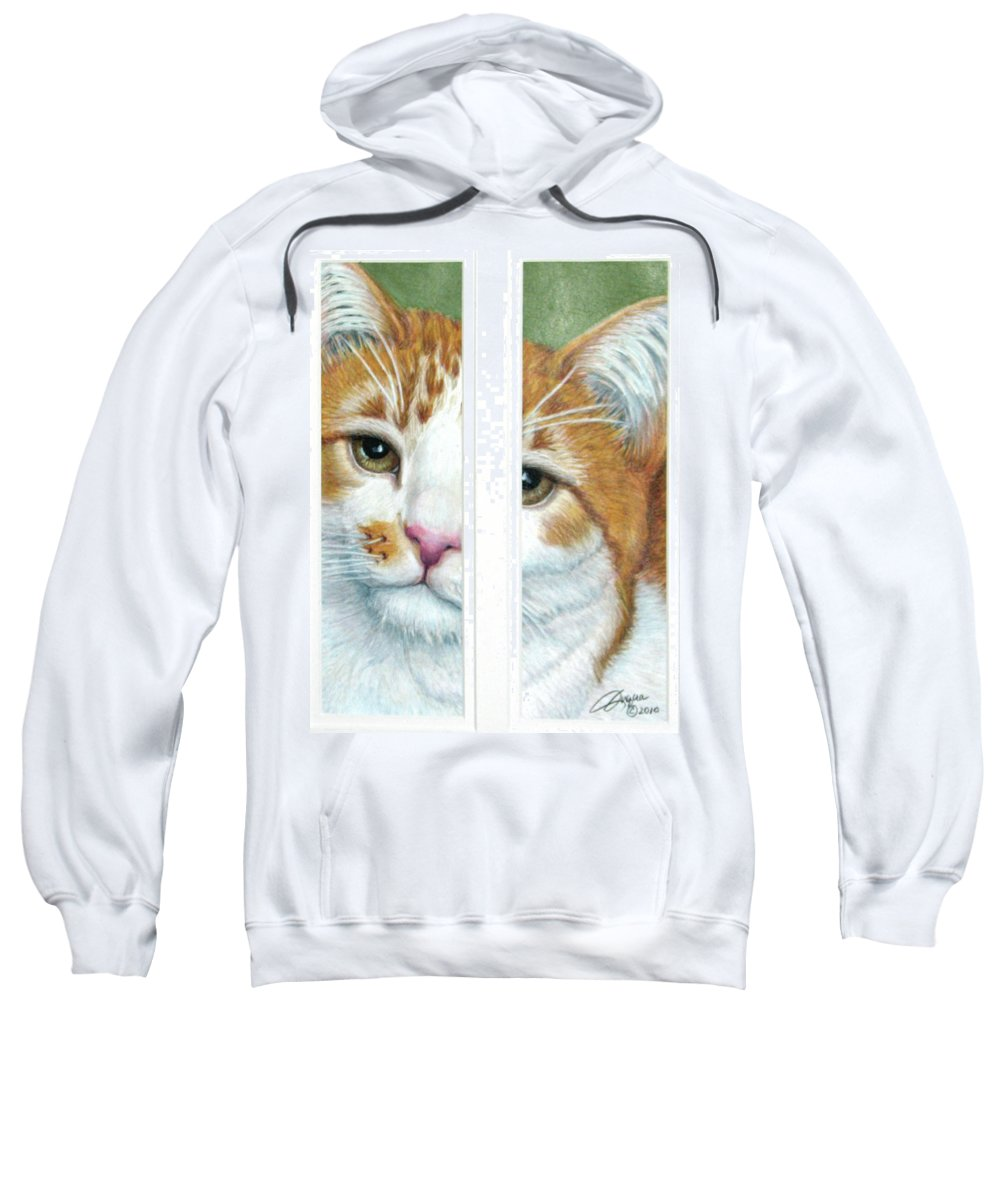 Fuqua - Artwork Sweatshirt featuring the drawing The Otherside by Beverly Fuqua