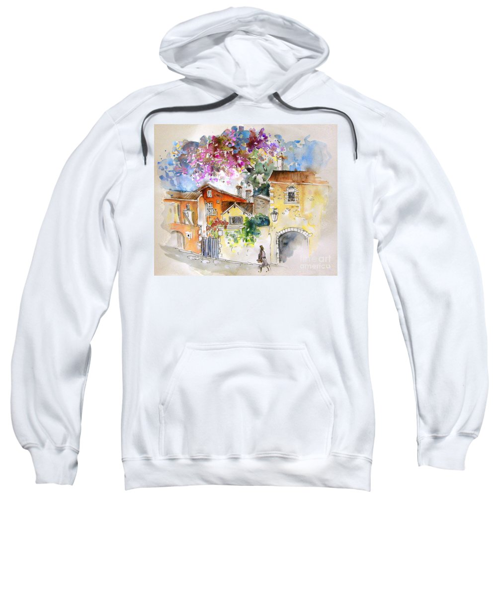 France Paintings Sweatshirt featuring the painting The Perigord In France by Miki De Goodaboom
