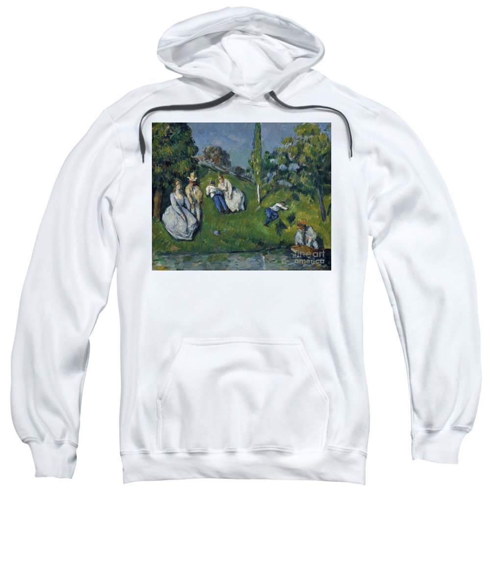 Cezanne Sweatshirt featuring the painting The Pond by Cezanne