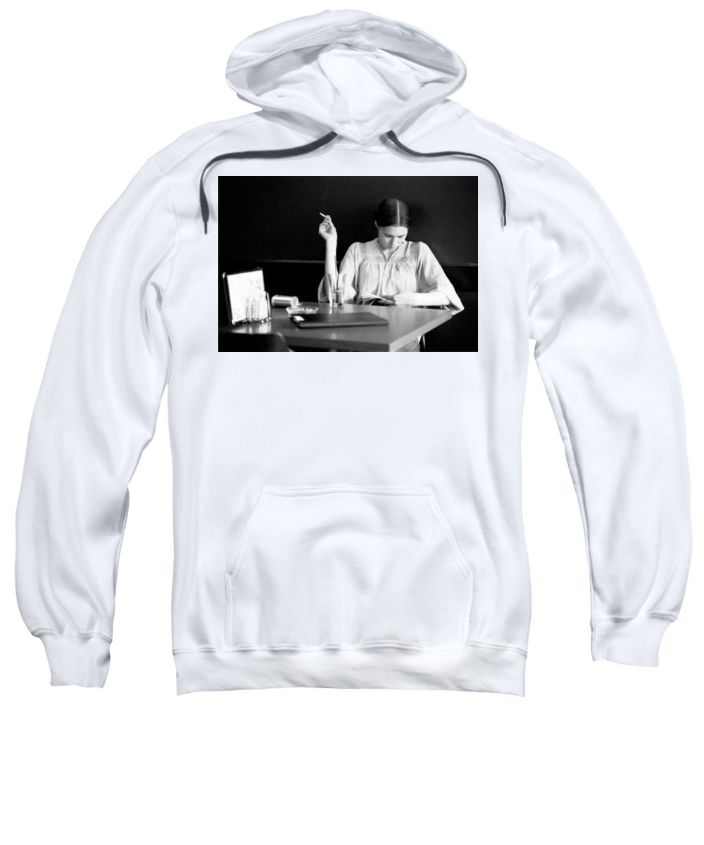 Woman Sweatshirt featuring the photograph The Reader. by Spirit Vision Photography