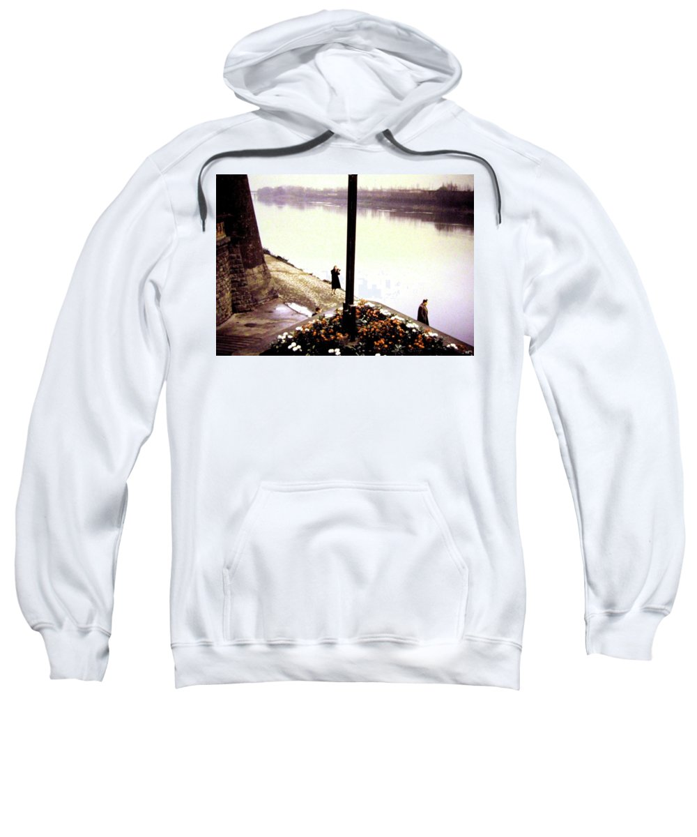 1955 Sweatshirt featuring the photograph The River Seine 1955 by Will Borden
