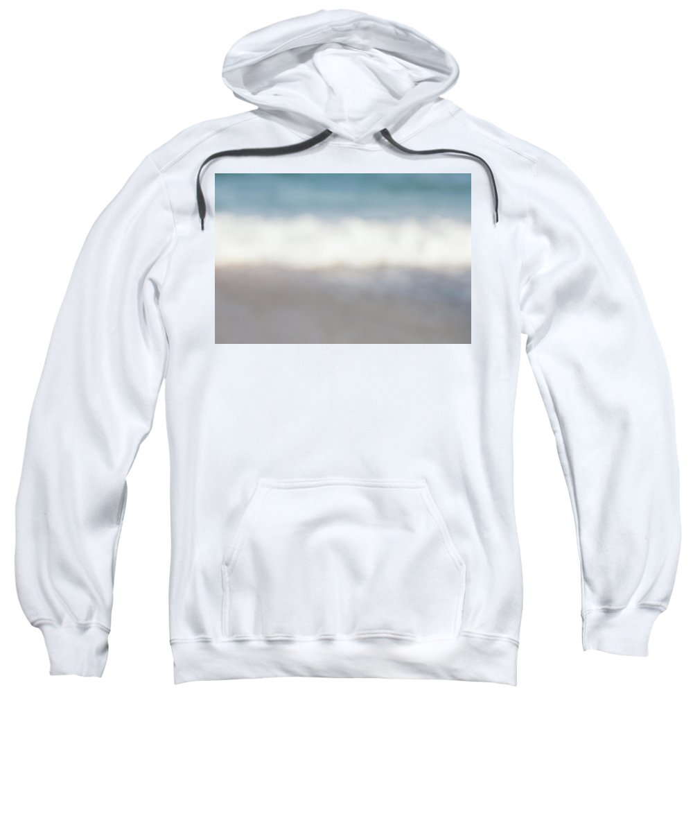 Abstract Sweatshirt featuring the photograph The Sea, The Wave And The Sand Abstract by Yoel Koskas