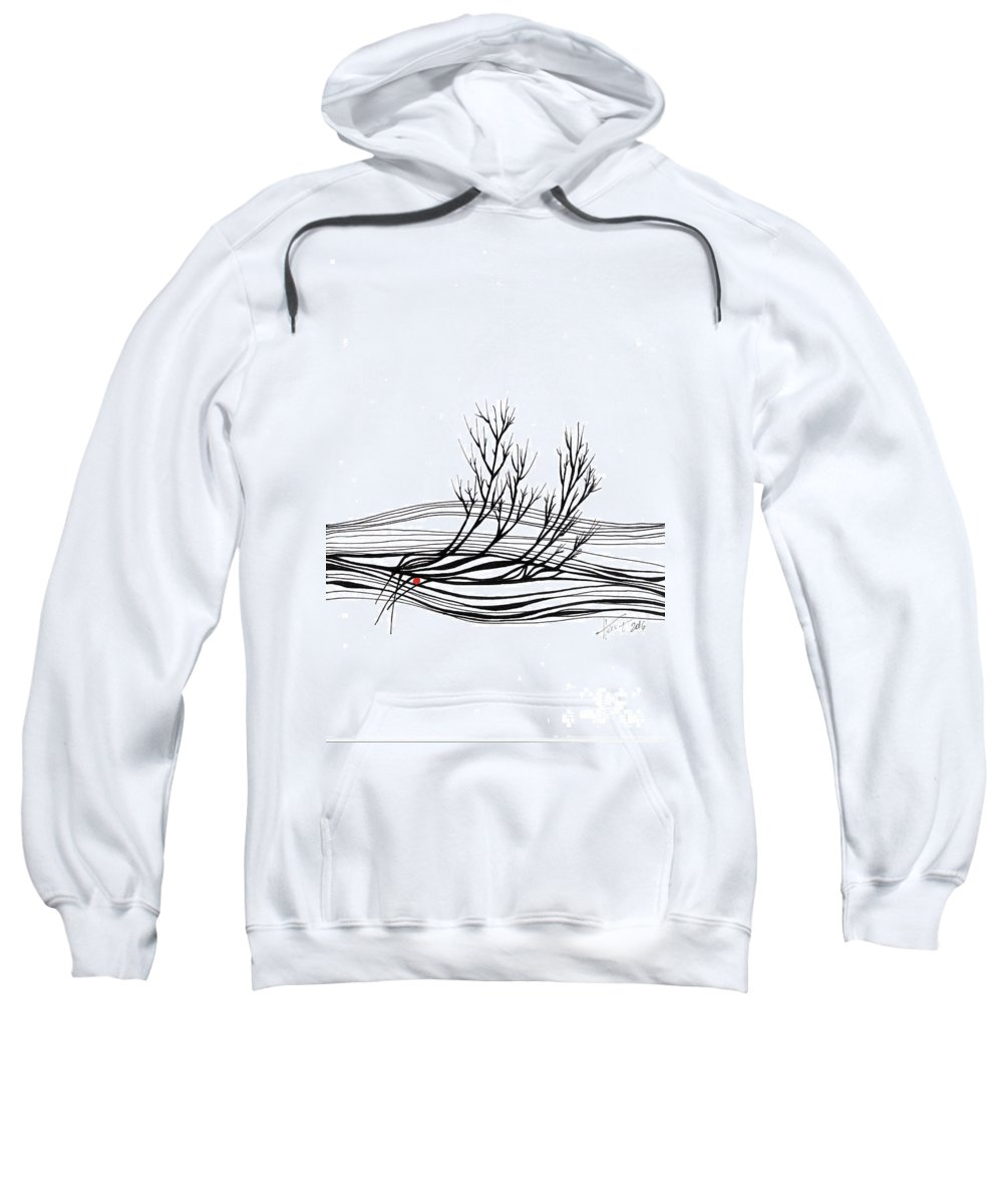 Trees Sweatshirt featuring the drawing The Seed by Aniko Hencz