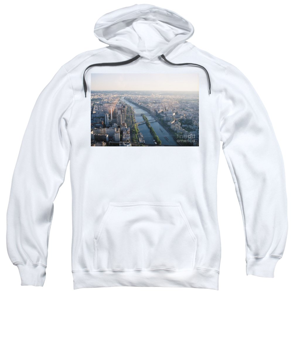 City Sweatshirt featuring the photograph The Seine River In Paris by Nadine Rippelmeyer