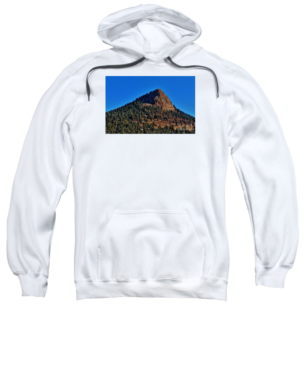 Snow Sweatshirt featuring the photograph The Shadow Side by CL Redding