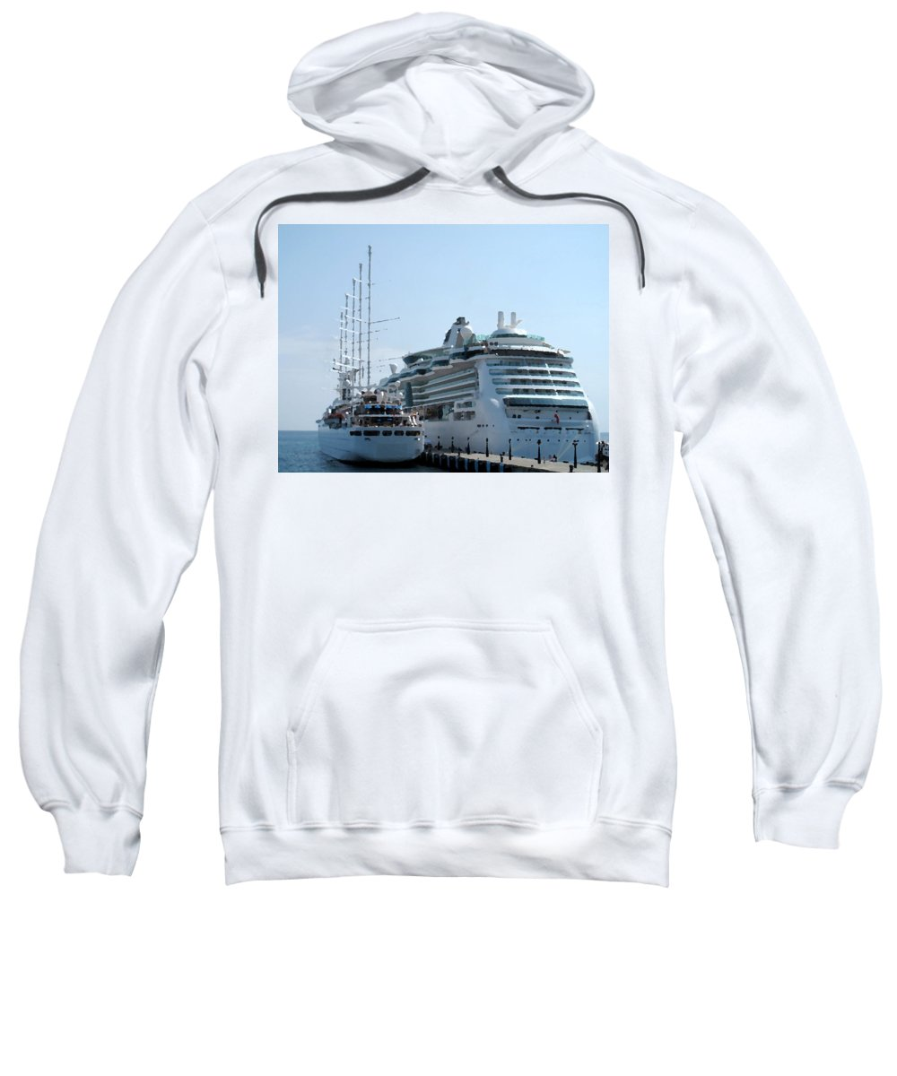Wind Song Sweatshirt featuring the photograph The Ships Are In by Ian MacDonald