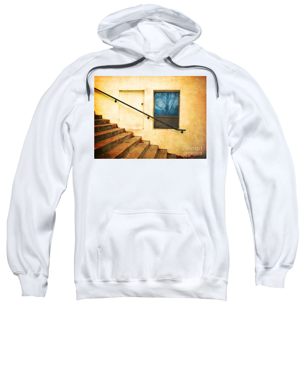 Stairs Sweatshirt featuring the photograph The Stairway Of Reflections by Tara Turner