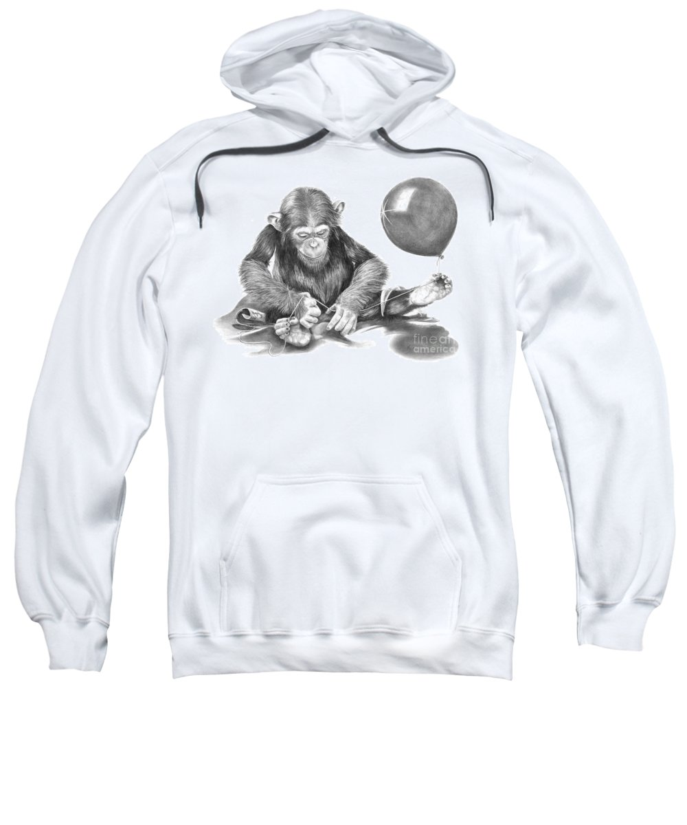 Pencil Sweatshirt featuring the drawing The String Theory by Murphy Elliott