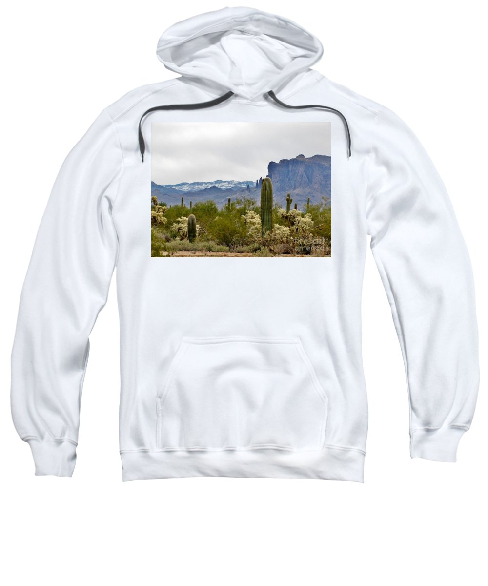 Desert Sweatshirt featuring the photograph The Superstitions Landscape by Marilyn Smith