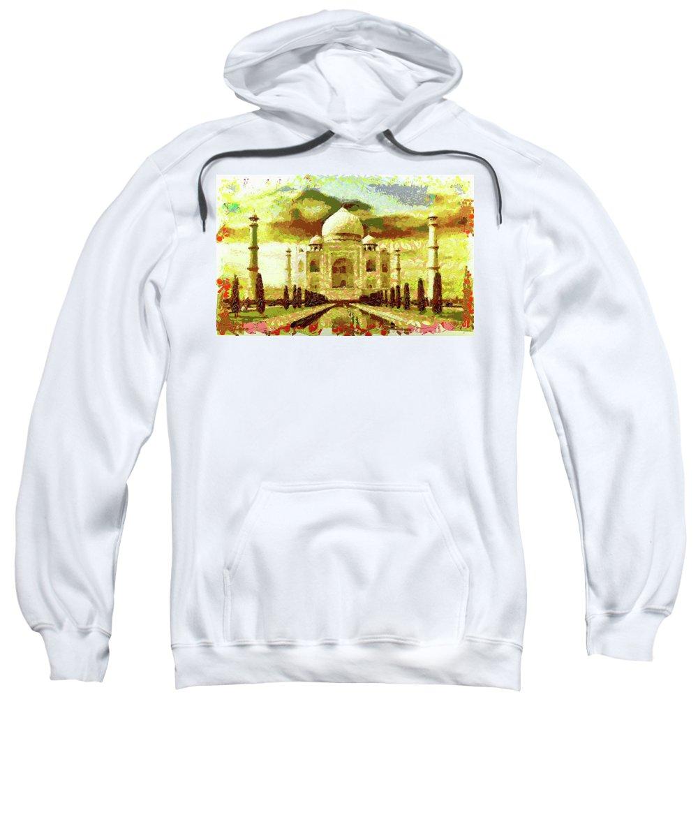 Digital Art Style Sweatshirt featuring the photograph The Taj Mahal by Mario Carini