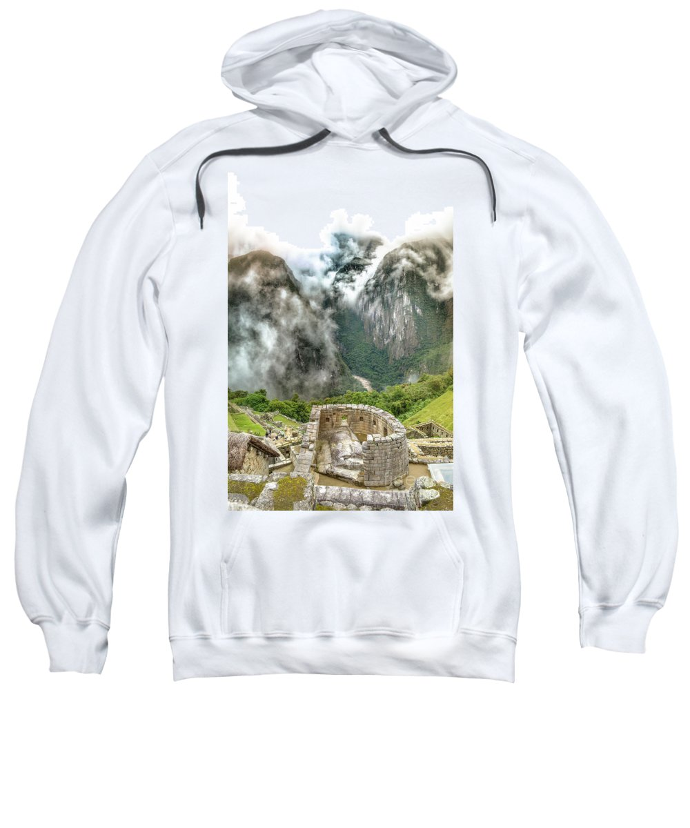 Sun Sweatshirt featuring the photograph The Temple Of The Sun. Machu Picchu by Ksenia VanderHoff