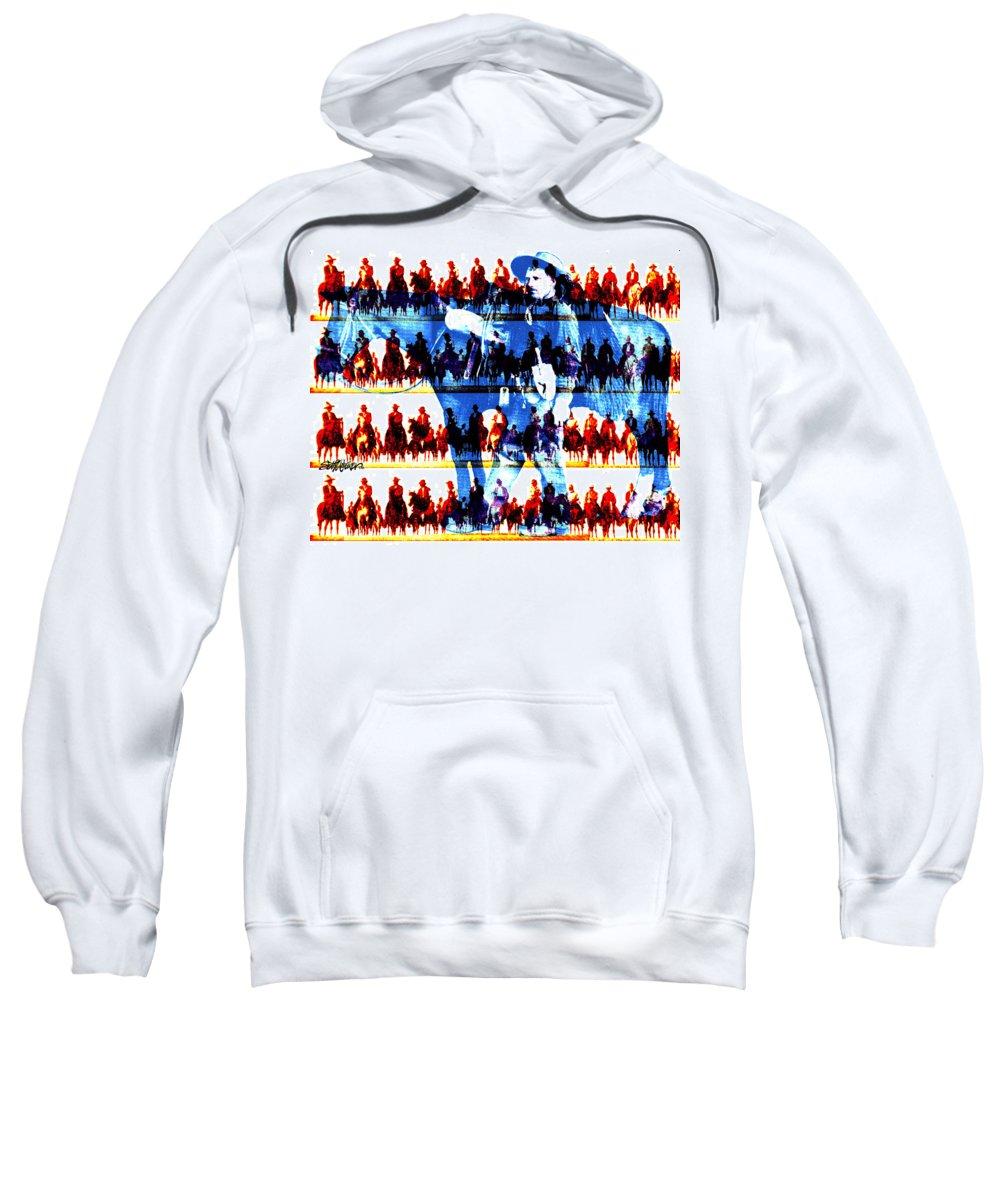Cowboys Sweatshirt featuring the digital art The Tenderfoot by Seth Weaver