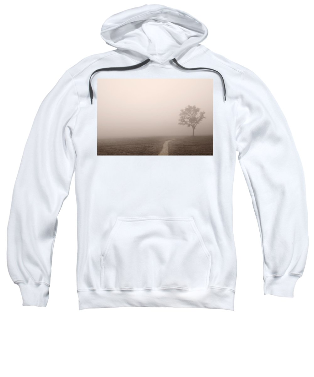 Cade Sweatshirt featuring the photograph The Trail by Steve Gadomski