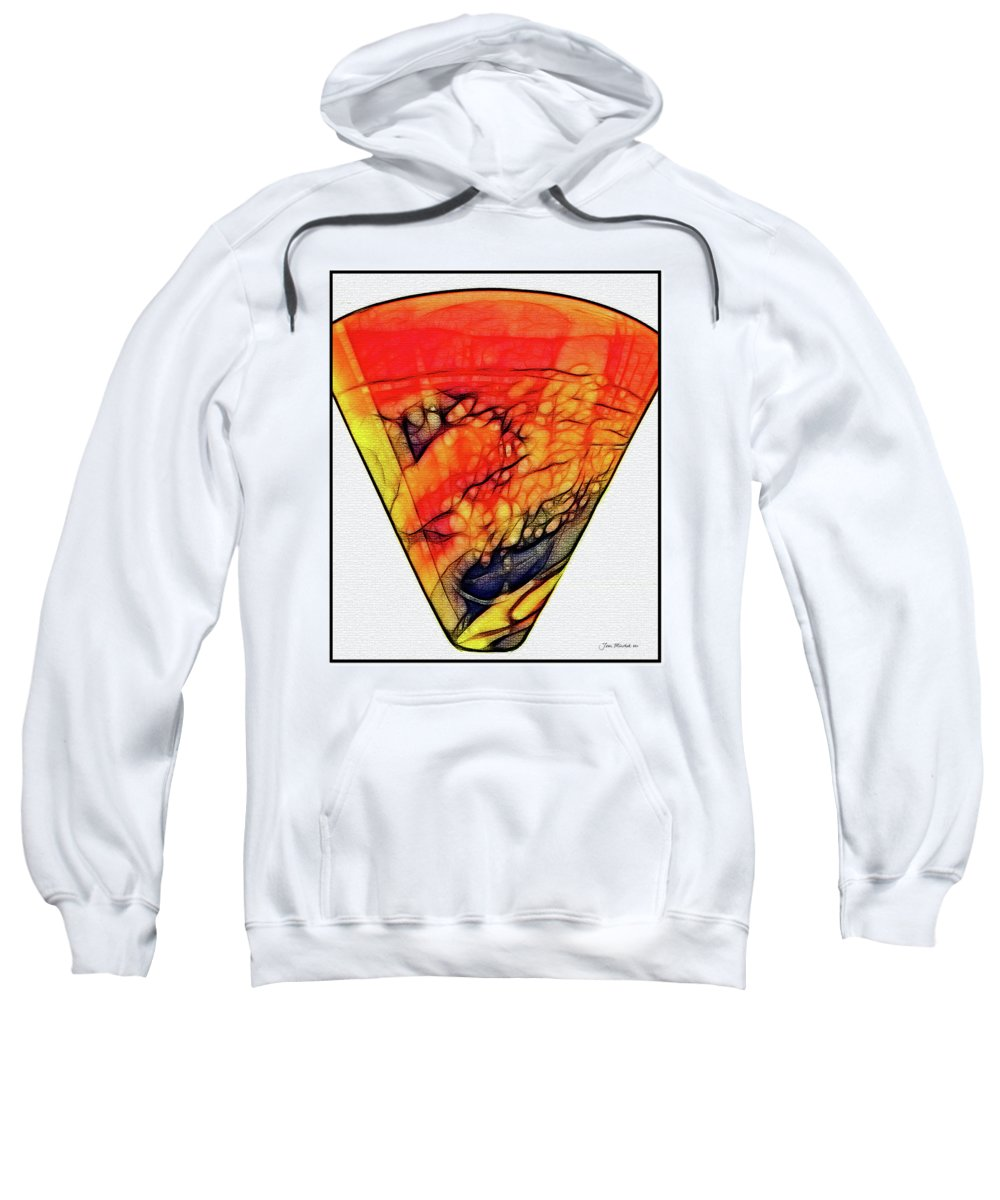 Abstract Sweatshirt featuring the digital art The Vase by Joan Minchak