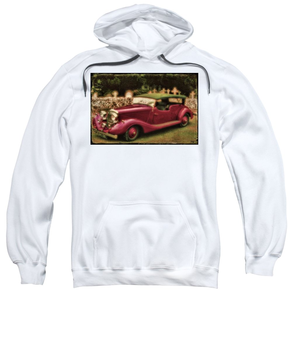 Bentley Sweatshirt featuring the photograph The Vicar's Roadster by Chris Lord